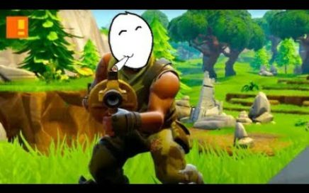 con 1 de vida jugándole al verga :v Fortnite Battle Royal Xbox One