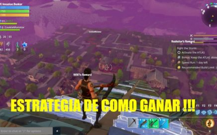 ESTRATEGIAS DE COMO GANAR EN FORTNITE BATTLE ROYAL!