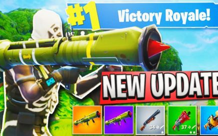 "Fortnite ""Guided Missile Launcher"" GAMEPLAY + NEW ""Blue Pump"" Shotgun in Fortnite Battle Royale!"