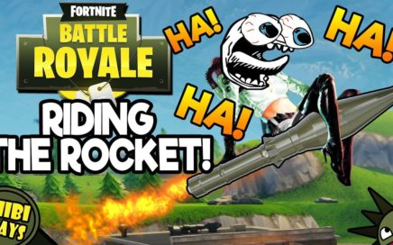 FUNNY ROCKET RIDING IN FORTNITE! Funny Fortnite Gameplay!
