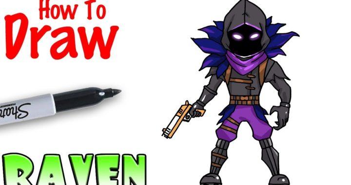 How to Draw Raven   Fortnite   Fortniteros.es