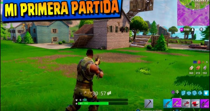 JUEGO FORTNITE EN PS4 POR PRIMERA VEZ!! BATTLE ROYALE