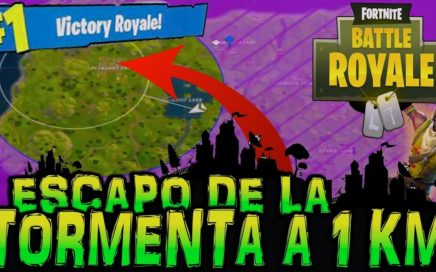 LA MEJOR FORMA DE ESCAPAR DE LA TORMENTA / GAS -FORTNITE BATTLE ROYALE-