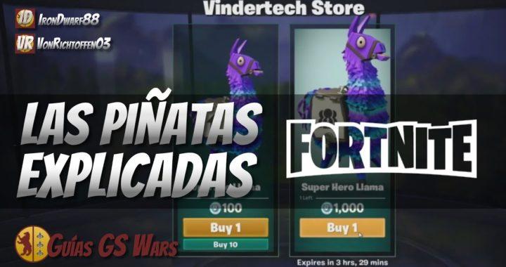Las Piñatas de FORTNITE explicadas   RECOMPENSAS EN LA GUERRA CONTRA EL ZOMBIE
