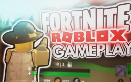 *NEW* FIRST LOOK AT ROBLOX FORTNITE GAMEPLAY!