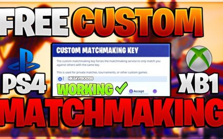 "*NEW* HOW TO GET ""CUSTOM MATCHMAKING KEYS/CODES IN FORTNITE"" (ALL CONSOLES) + V-BUCKS in Fortnite!"