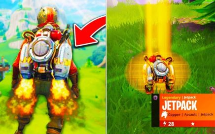 "*NEW* JETPACK Fortnite GAMEPLAY! - NEW LEGENDARY ""JETPACK"" ITEM UPDATE! - Fortnite Battle Royale"