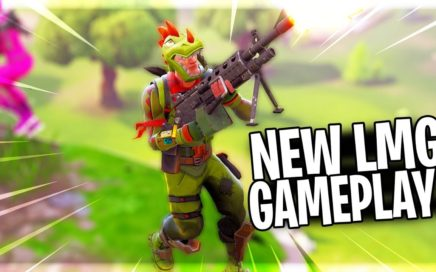 NEW LMG GUN GAMEPLAY IN FORTNITE BATTLE ROYALE | Fortnite Victory Royale With LMG