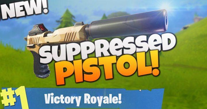 *NEW* SUPPRESSED PISTOL in FORTNITE BR! (Suppressed Pistol Victory Royale Gameplay Fortnite BR)