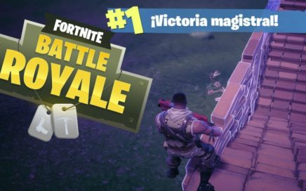 VICTORIA MAGISTRAL 10 BAJAS BATALLA EPICA - FORTNITE BATTLE ROYALE - BATALLA CAMPAL GAMEPLAY ESPAÑOL