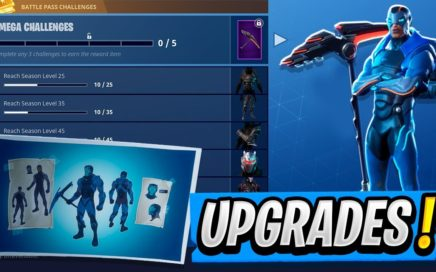 Battle Pass Skins UPGRADED! | Enhanced OMEGA Skin! ( Fortnite Season 4 )