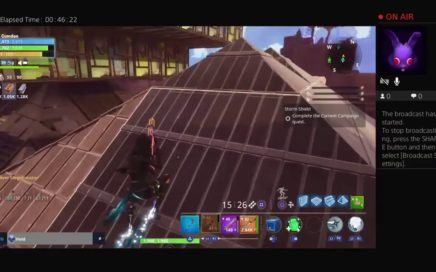 Battle royal gameplay fortnite house building