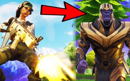 CRAZY THANOS 1v1!!! (Fortnite Battle Royale New Gameplay WIN)