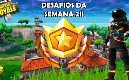 FORTNITE BATTLE ROYALE - DESAFIOS DA SEMANA 2: COMO FAZER!!