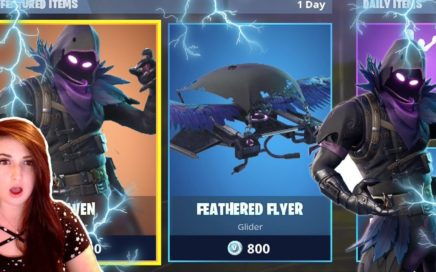 "Fortnite *NEW* ""Raven"" Skin and ""Feathered Flyer"" GAMEPLAY! Fortnite New Raven Skin Update"