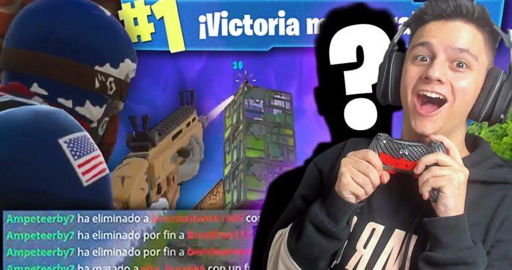 INCREÍBLE VICTORIA JUGANDO CON UN DESCONOCIDO!! - Fortnite: Battle Royale