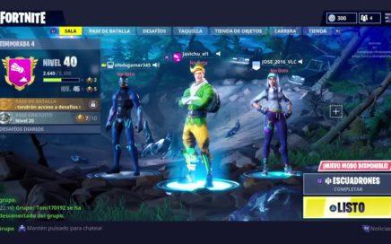 Jugando Fortnite con Subscriptores y Amigos