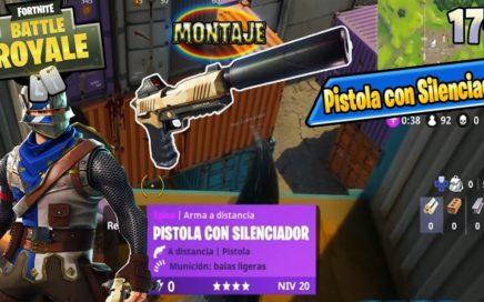 JUGANDO SOLO CON PISTOLA CON SILENCIADOR! Fortnite: Battle Royale Español