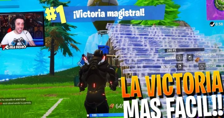 LA VICTORIA MAS FACIL!! | FORTNITE Battle Royale | Rubinho vlc