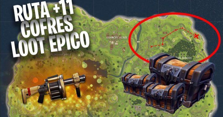 Mejor ruta de loot (+11 COFRES)  | Fortnite Battle Royale Español