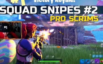Squad Snipe #2! Streamer Highlights Style - Fortnite Competitive Gameplay