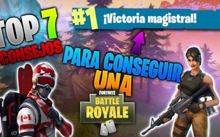Top 7 Consejos Para Ganar En Fortnite | Battle Royale | PS4