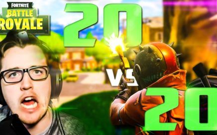 WIN AS A TEAM | 20v20 Fortnite Game Mode Solo Pc Gameplay