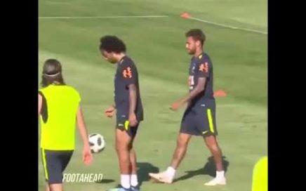 Marcelo y Neymar en el entrenamiento | Bailes de Fortnite y Trucos