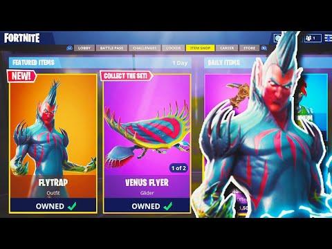 """NEW """"Flytrap"""" LEGENDARY SKIN in Fortnite! - NEW Fortnite UPDATE! - Fortnite Battle Royale"""