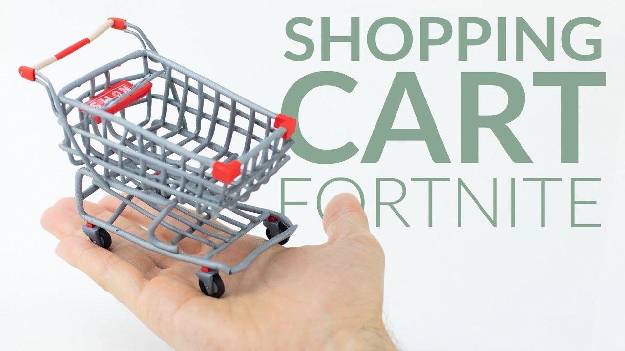Fortnite Shopping Caar Shopping Cart Fortnite Battle Royale Polymer Clay Tutorial Fortniteros Es
