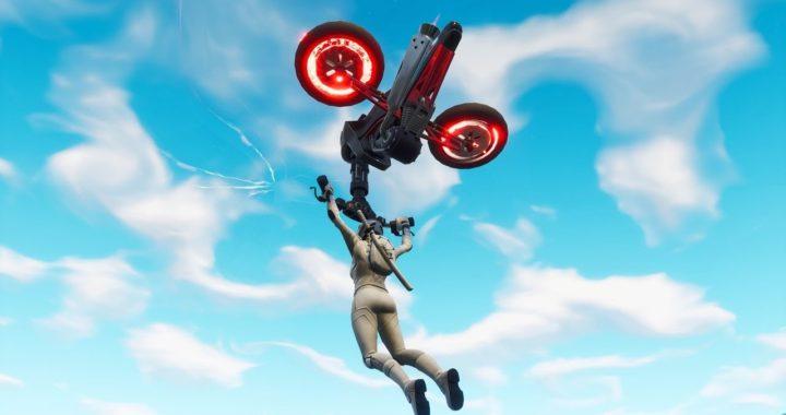 Fortnite new glider gameplay.CYCLONE - Motorbike glider