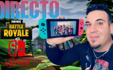 JUGANDO FORTNITE EN NINTENDO SWITCH