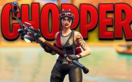 New Fortnite CHOPPER SKIN Gameplay..