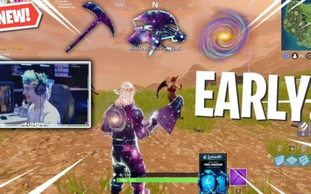 Ninja Uses NEW GALAXY SKIN BUNDLE ITEMS Early! *First Ever Gameplay* (Fortnite)